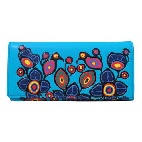 Norval Morrisseau Flowers and Birds Wallet