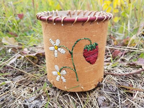 Quilled Birch bark Basket