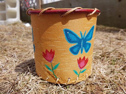Painted Birchbark Basket