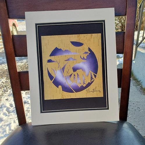 Moose & Teepee - Gelineau Fisher print