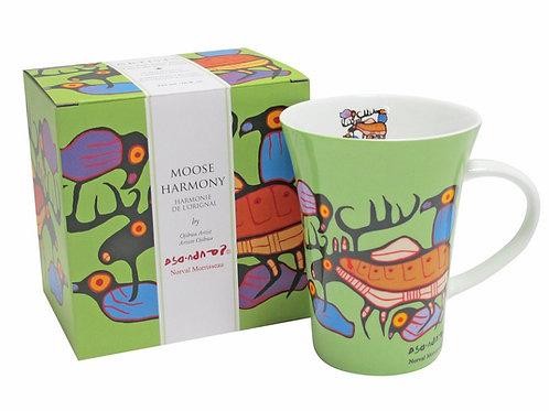 Norval Morrisseau Moose Harmony Porcelain Mug