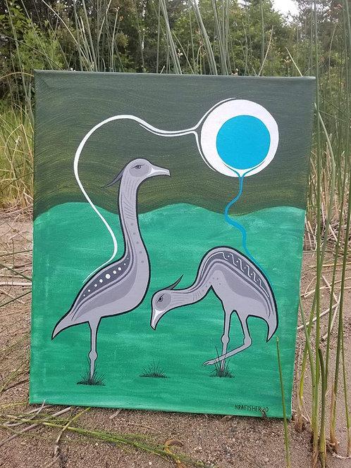 Crane - Original Painting