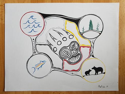 """Bears Imprints"" - Nigel Fisher Original"