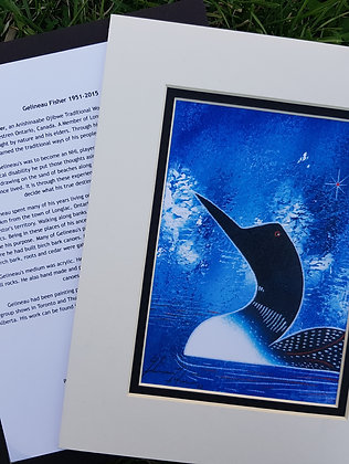 Loon (blue) - Gelineau Fisher Print