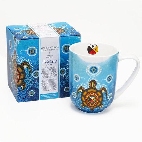 James Jacko - Medicine Turtle Porcelain Mug