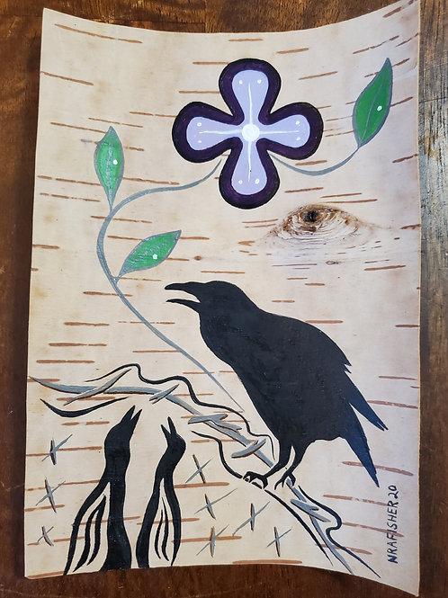 Raven & Babies  - Original