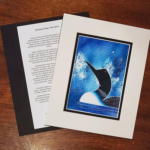 Loon (blue) - Gelineau Fisher Print