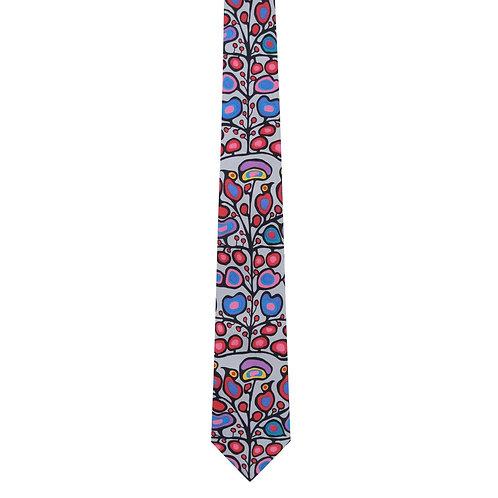 Norval Morrisseau Woodland Floral Artist Design Silk Tie