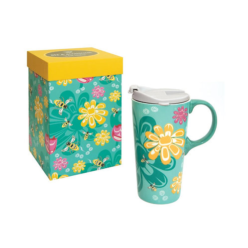 17oz Mug - Bee and Blossoms by Paul Windsor