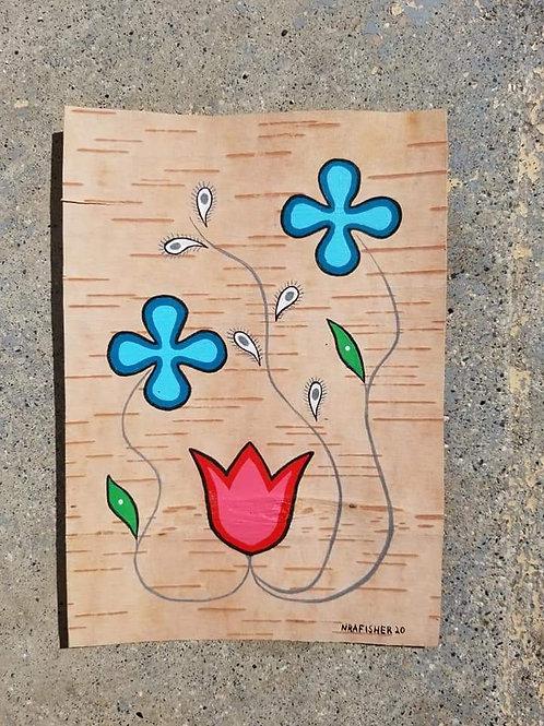 Blue Floral - Original