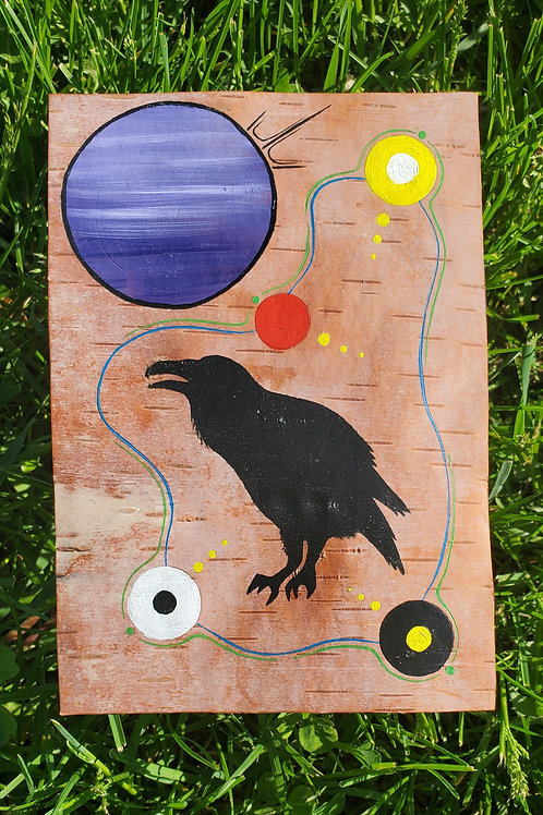 """Raven's Voice"" Original Painting Nigel Fisher"