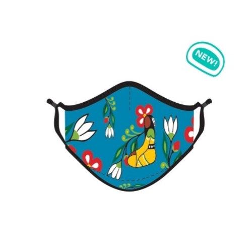 Reusable Face Mask - Her Jingle Dress by Anishinaabe Artist Sharifah Marsden