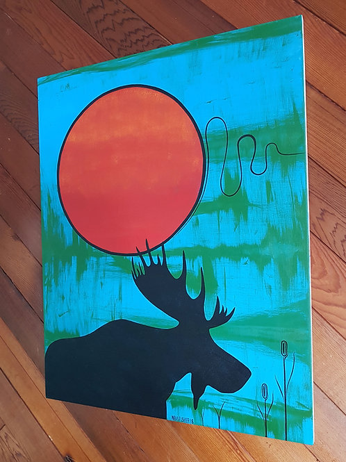 Morning Moose - Nigel Fisher Original