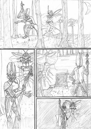 Penci art comic page