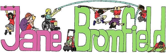 childcare logo illustration children playing