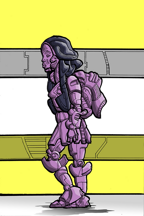 Tkay Maidza afrofuturist robot illustration australian rapper