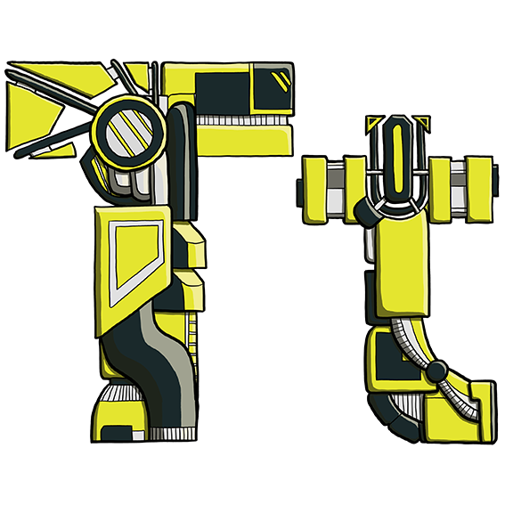 Mechanical Text - T