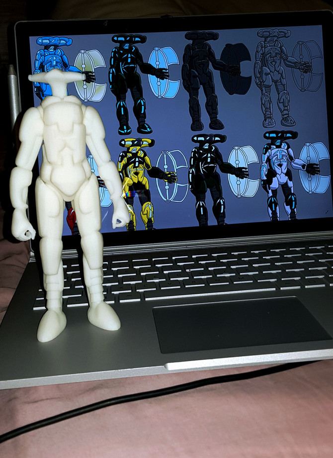 3D Printed Chordir statue!