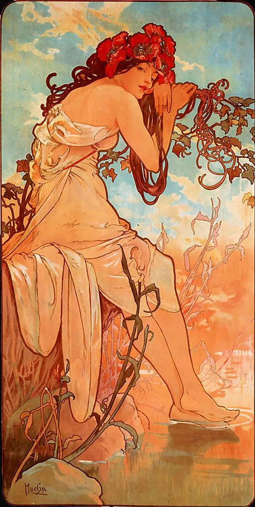 Alphonse Mucha, Les Saisons: l'été 1896