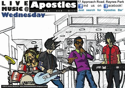 bar music night advert illustration