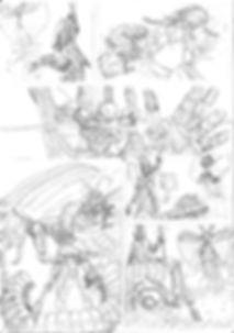 comic page pencil art