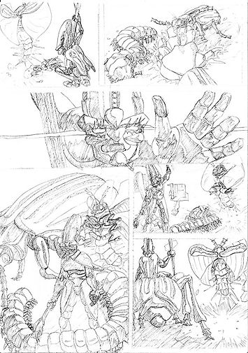 comic page pencil art
