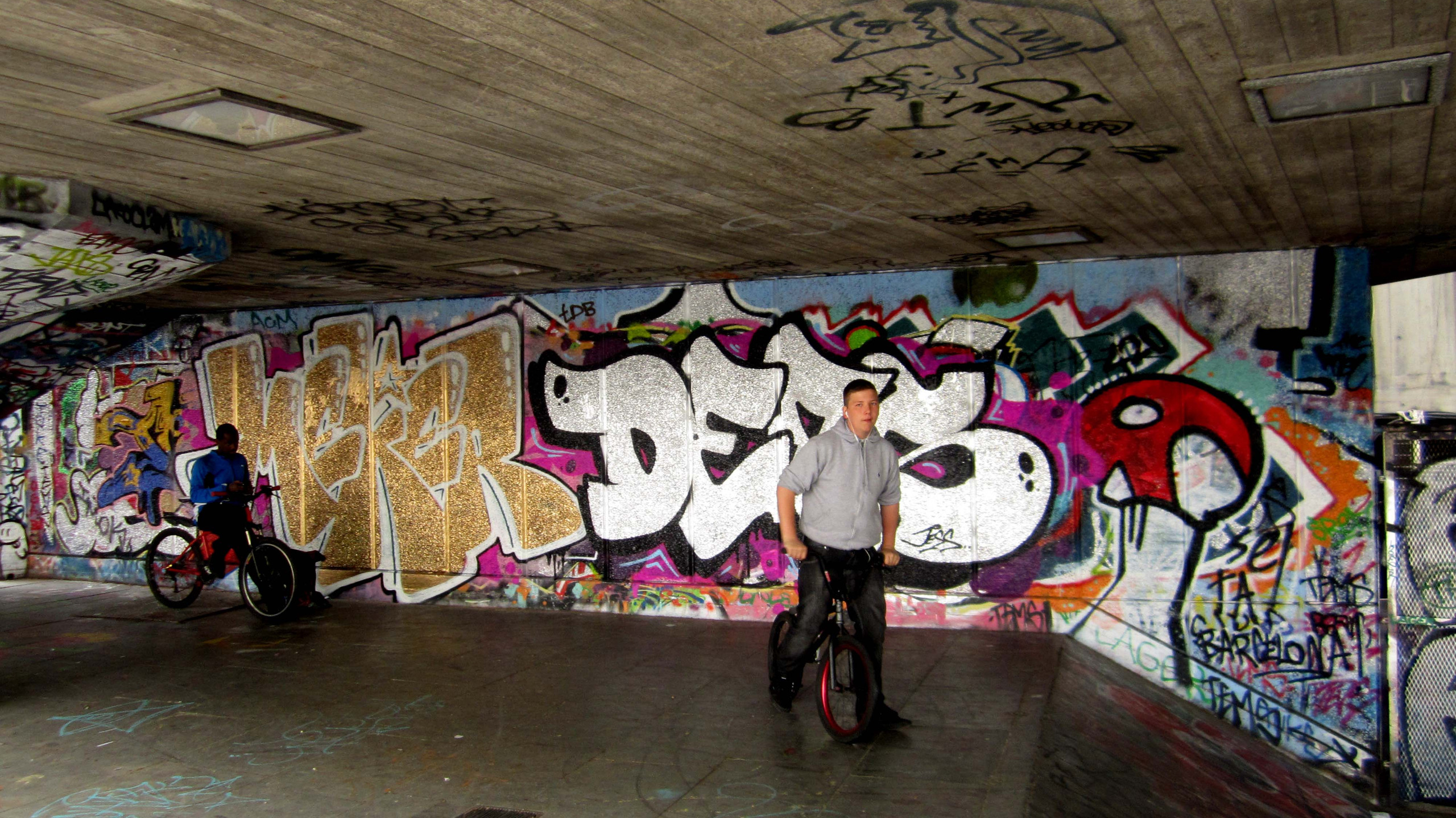 Cyclists in the Undercroft