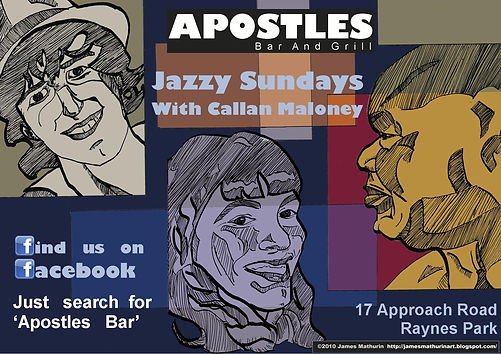 advert bar jazz illustration
