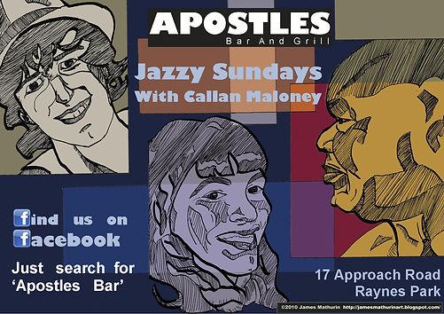 advert bar jazz illustration
