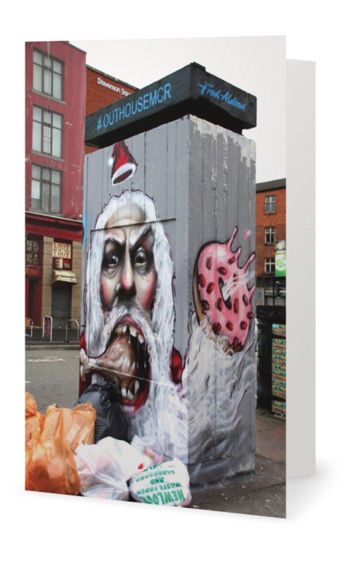 Santa Graffiti card