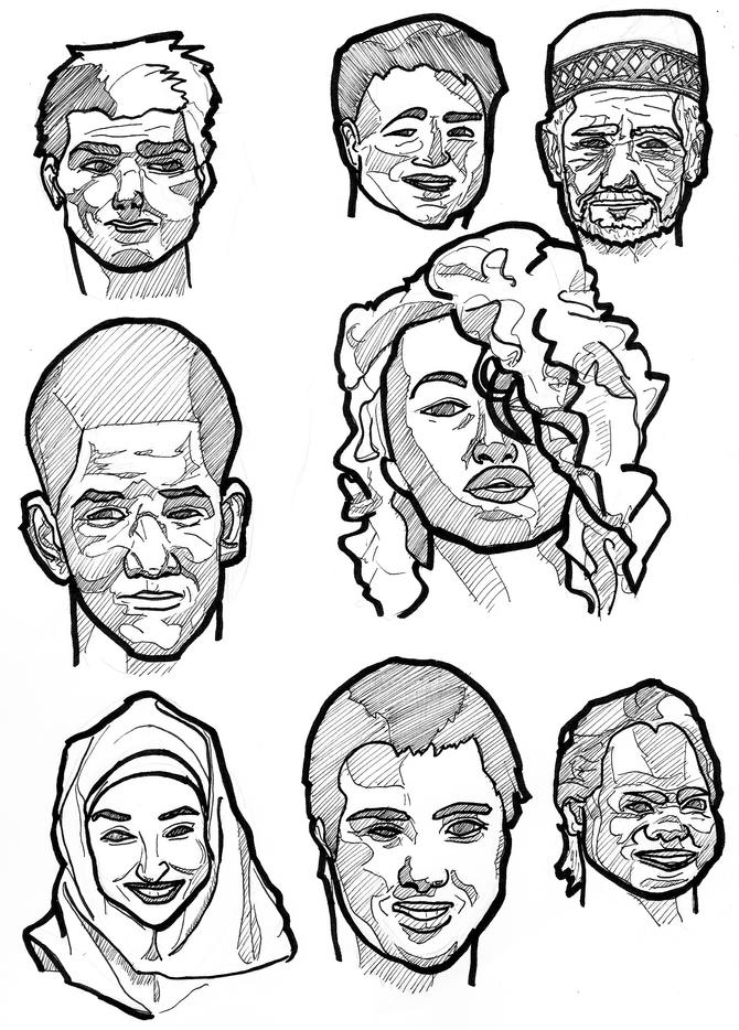 I sketch stuff: Faces