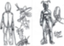 entomon female supervillain sketch