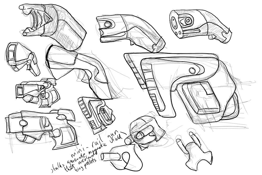 Pistol sketches