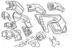 Pistol sketches