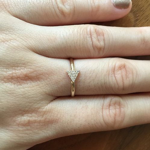 Pavé Triangle Ring