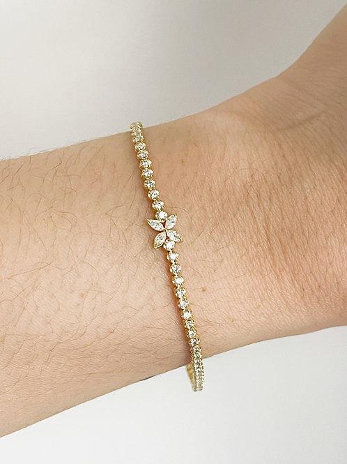 Marquise Flower Diamond Line bracelet