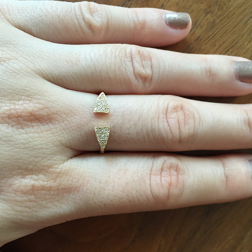 Open Pointed Pavé Ring (=$174.00USD)