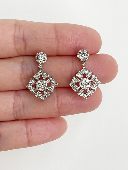 Diamond Filagree Dangling earrings