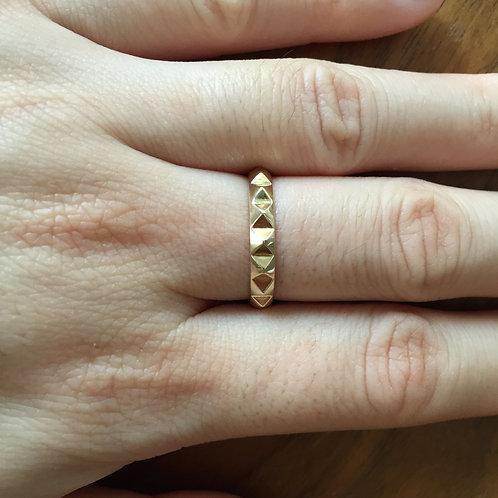 Pyramid Eternity Ring (=$271.00USD)