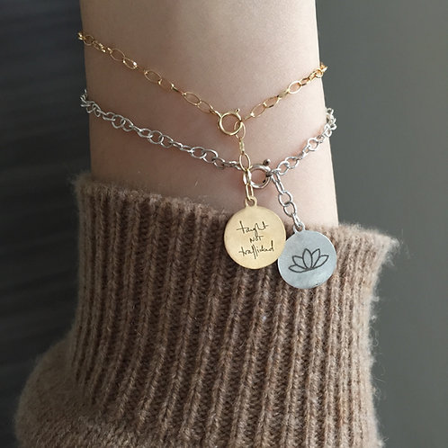 Gillian Anderson Lotus Bracelet