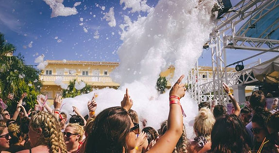 The best crowd in Kavos is always at the Mega Foam Party