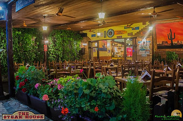 The Steak House Kavos Exterior Dining View