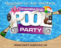 Champagne Pool Party At Quayside Village Kavos Corfu | Kavos Pool Parties | Kavos Events | Kavos Party Calendar