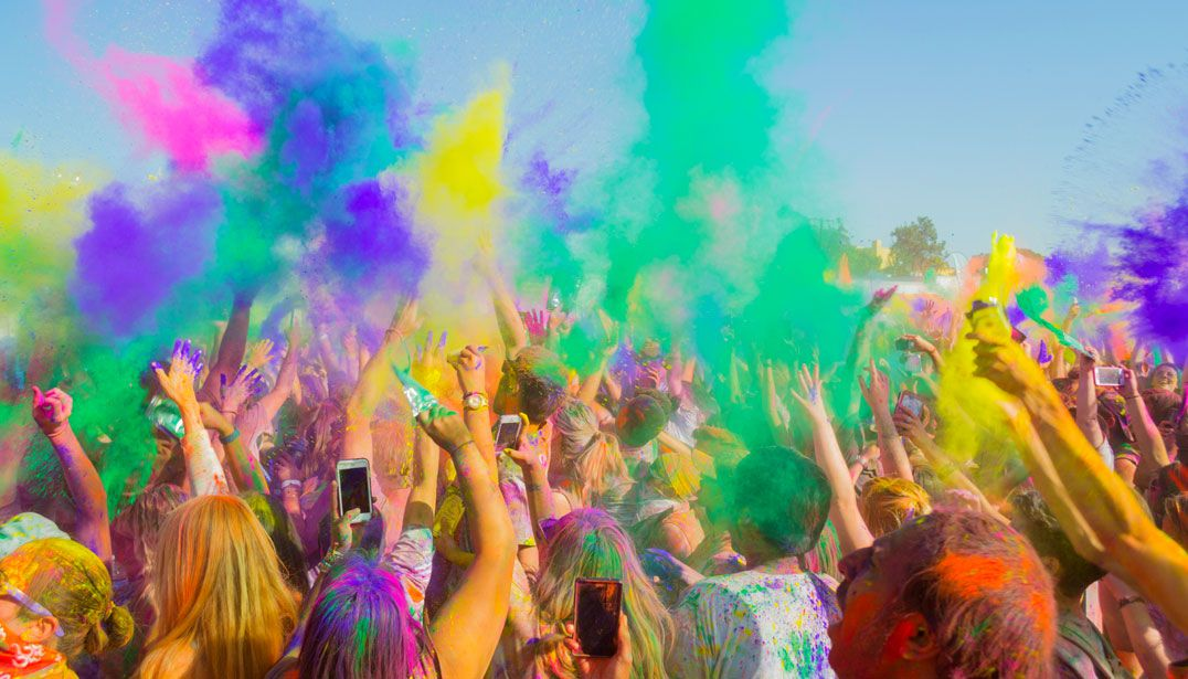 Holi Colours Festival - Kavos Parties - Kavos Events - Atlantis Beach Venue Kavos Corfu