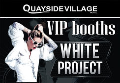 VIP Booths White Project Kavos | VIP Services At Quayside Village Kavos | VIP Seating At Events In Kavos Corfu