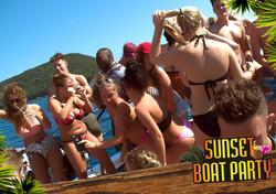 Sunset Boat Party Kavos Corfu - 1 Hour Free Bar - Sunset Booze Cruise - Alcoholic Sunset Party Cruis