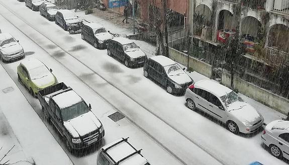 Heavy snowfall at Kavos and Corfu 2019