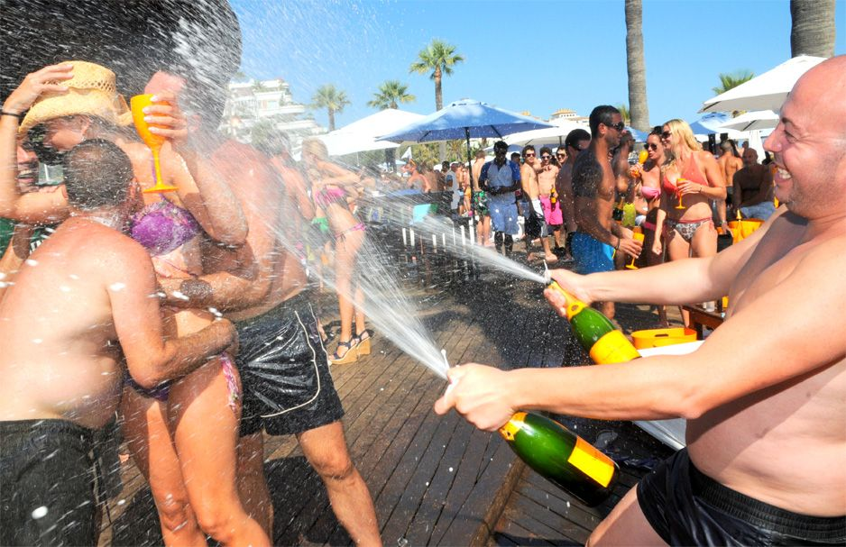 Champagne Fridays At Quayside Village - Champagne Spray Party Kavos Corfu