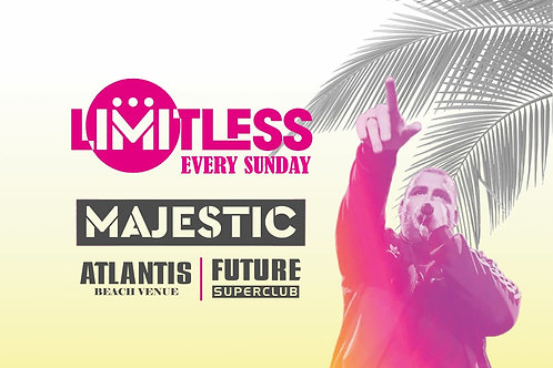 Limitless By Majestic 2019 | Atlantis Kavos | Entry Ticket