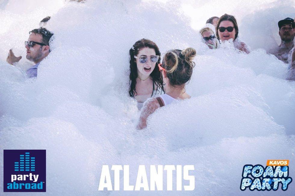 Kavos Summer Events - Kavos Party Calendar - Mega Foam Party - Atlantis Beach Club Kavos